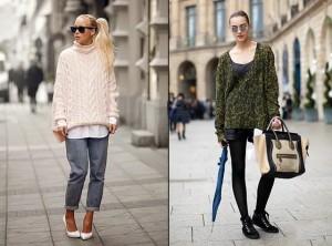 объёмные свитера